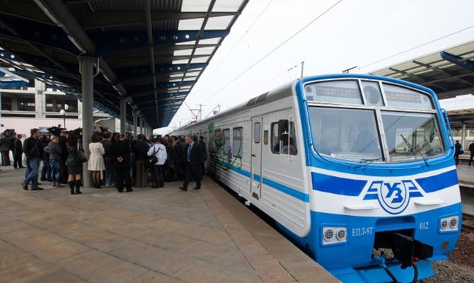 В Киеве изменят схему движения городской электрички.