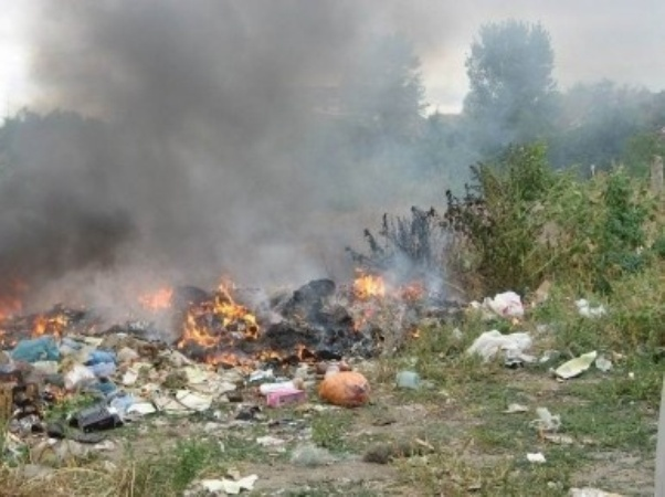 На Тополе пожар