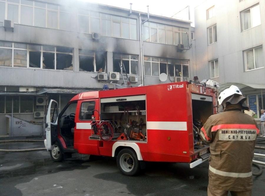 Вофисном помещении украинской столицы пылал превосходный пожар
