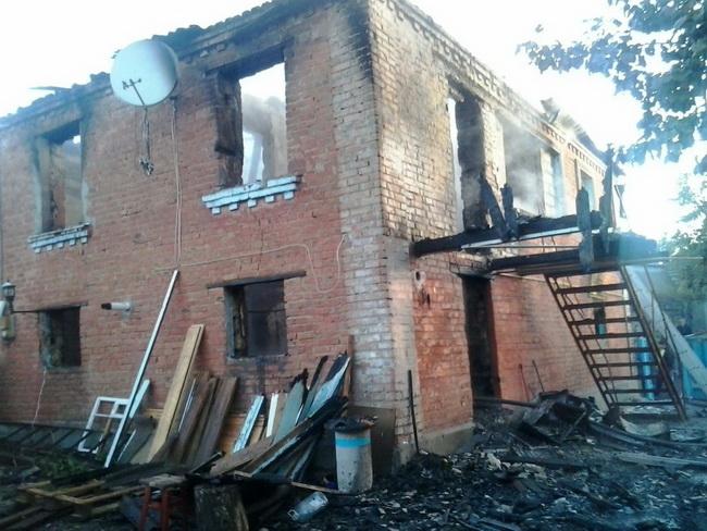 ВКиевской обл. впроцессе пожара погибли 2 детей