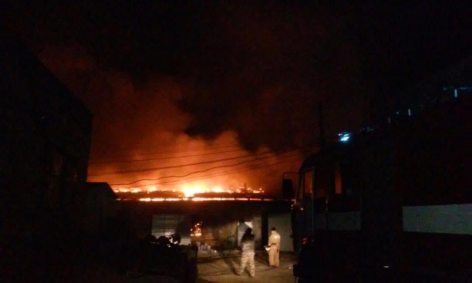 Набывшей овощебазе под Киевом произошел пожар совзрывом