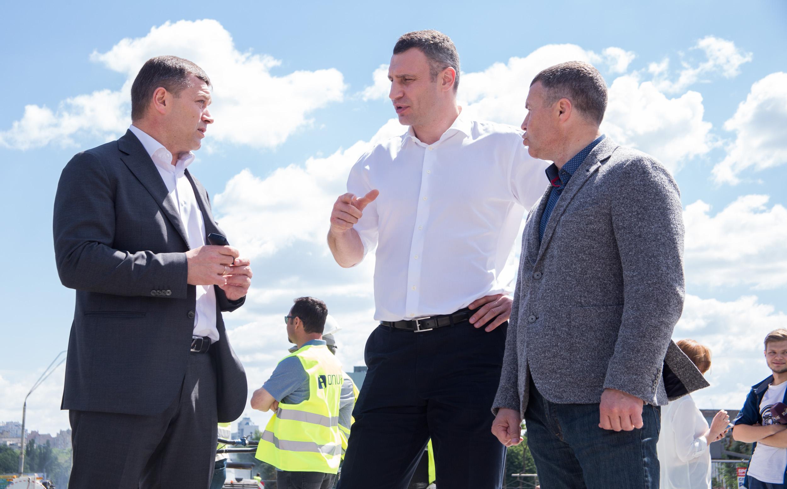 Кличко объяснил выбор проекта реконструкции Шулявского путепровода