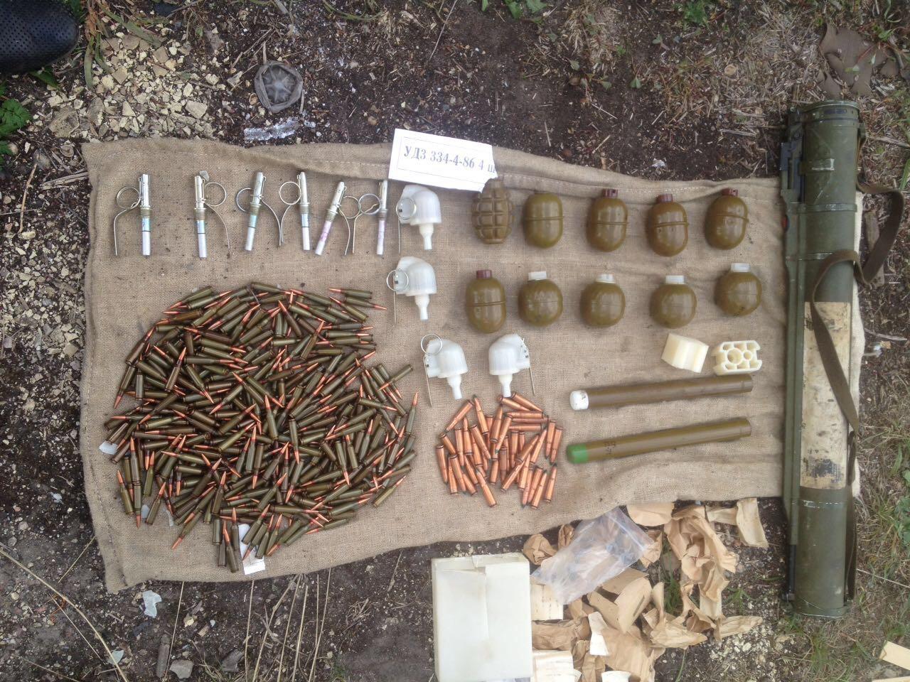ВКиевской области обнаружили схрон сбоеприпасами