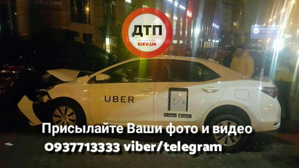 ВКиеве шофёр Uber разбил 5 авто: есть пострадавшие