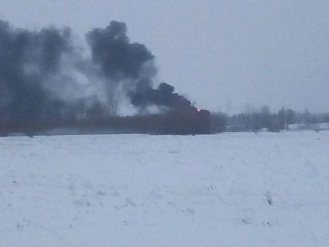 НаКиевщине произошел пожар около военного аэропорта