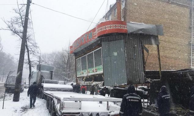 За третью неделю декабря в Киеве демонтировали 8 незаконных временных сооружений (фото)