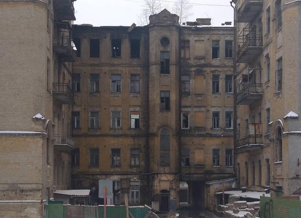 Вцентре столицы Украины произошел масштабный пожар