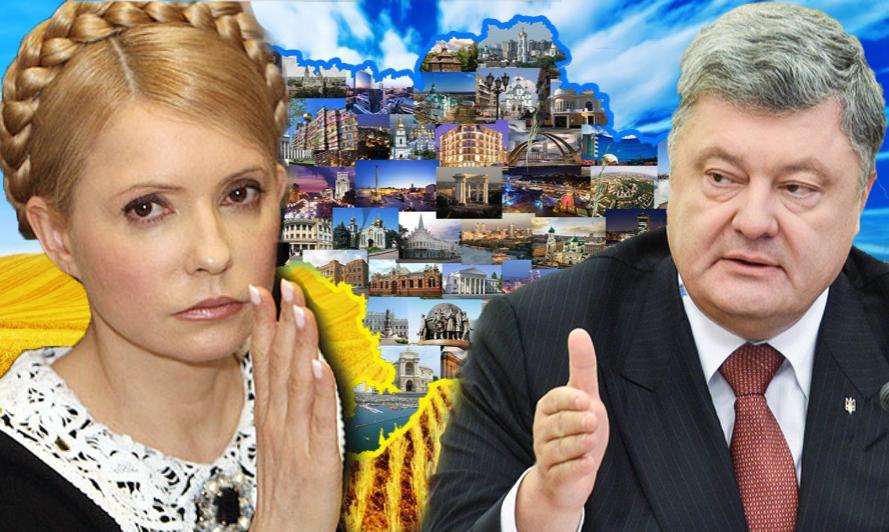 Опрос: Тимошенко иПорошенко лидируют впрезидентском рейтинге вгосударстве Украина