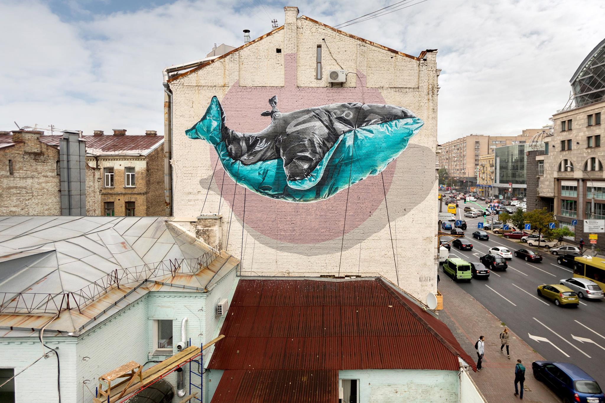Лучшие картины: украинские муралы попали втоп произведений уличного искусства
