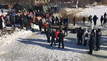В Киевской области в крещенские полыньи окунулись 12 тысяч человек (фото)