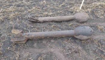 На Киевщине пиротехники обезвредили две реактивные мины времен Второй мировой войны (фото)