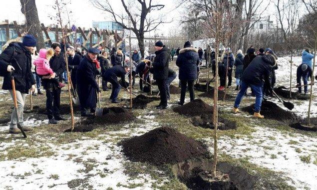 На Парковой аллее в Киеве появился сад в знак дружбы Украины и Израиля (фото)