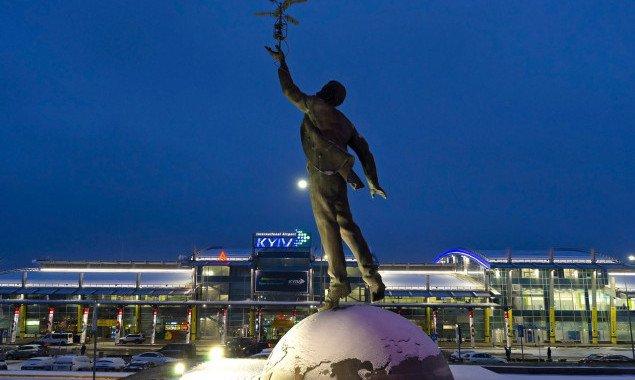"""Январский пассажиропоток аэропорта """"Киев"""" за год упал более чем на 20%"""