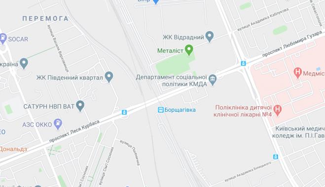 В Киеве на 5 месяцев ограничат движение по путепроводу на пересечении проспектов Гузара и Курбаса с ж/д путями
