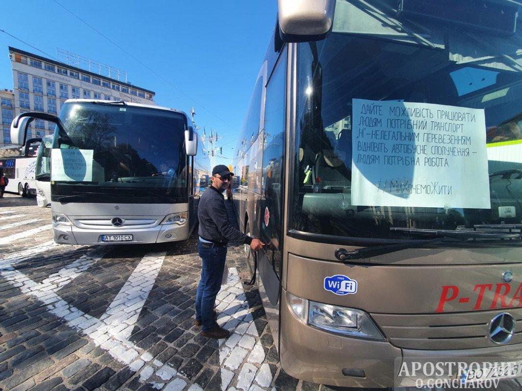 Акция автоперевозчиков прошла в Киеве. Мероприятие завершилось без эксцессов