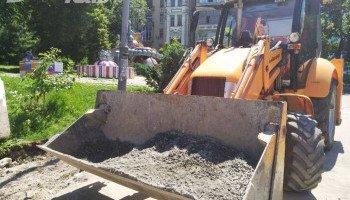 В Киеве начался капитальный ремонт Пейзажной аллеи (фото)