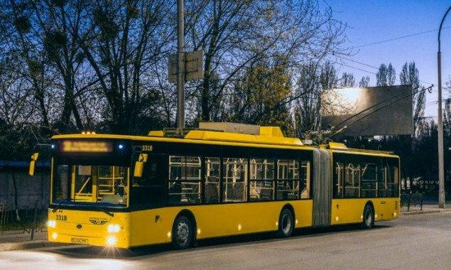 Завтра, 27 ноября, на четыре дня изменят маршруты три столичных троллейбуса (схема)