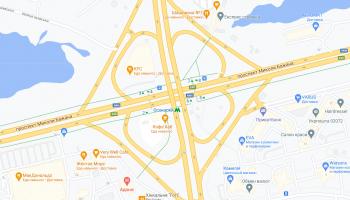 На развязке Бажана - Днепровская набережная установили 124 новых дорожных знака (фото)