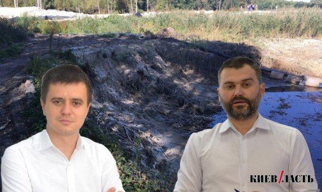 """""""Распил"""" и добыча песка: Нацполиция заинтересовалась, как КП """"Плесо"""" облагораживало пруд в Голосеевском районе"""