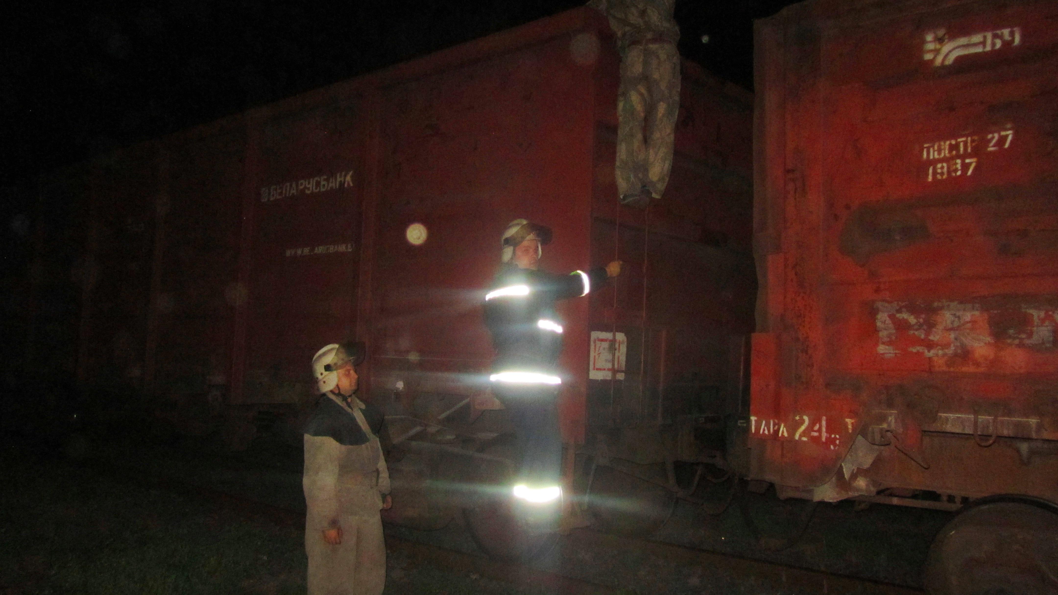 ВКиевской области впериод движения произошел пожар вгрузовых вагонах